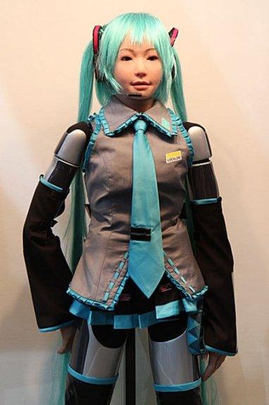 """Hatsune Miku Cosplay Robot Sings """"Melt"""" *O* … 51702__468x_hrp-4c-miku-cosplay-robot"""